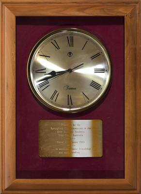 Clock, from the Springfield City Commission