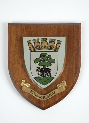 Shield plaque, Berwickshire coat of arms