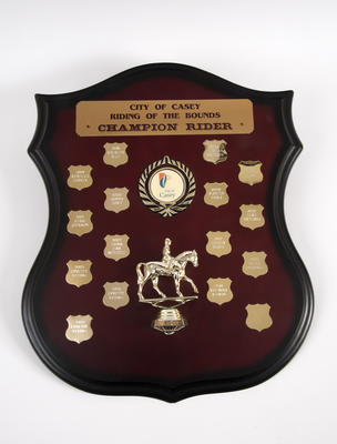 Plaque, Riding of the Bounds Champion Rider