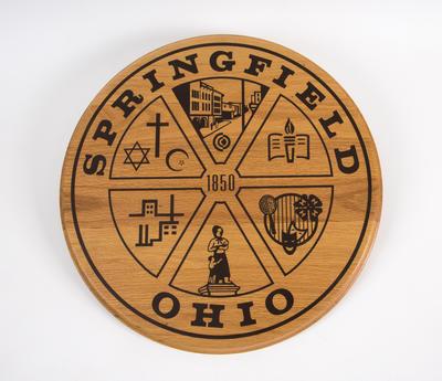 Emblem plaque, Springfield, Ohio