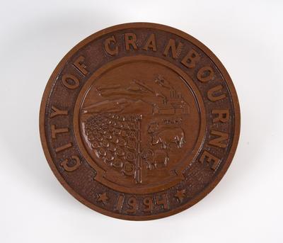 Plaque, City of Cranbourne