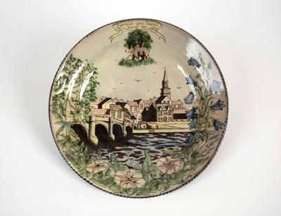 Commemorative plate, 1991 civic party visit of the Borough of Berwick-upon-Tweed