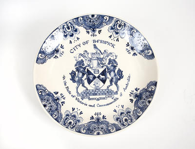 Commemorative plate, City of Berwick