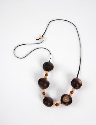 Buckeye seed necklace