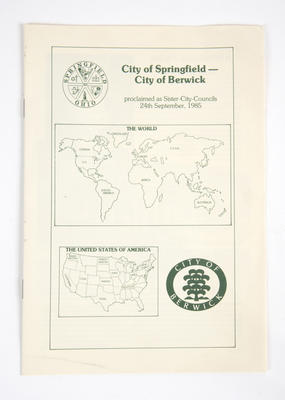 Sister city booklet, City of Springfield and City of Berwick